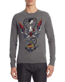 Regular-fit Tattoo Cashmere Sweater