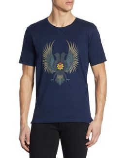 Wagle Embroidered Cotton T-shirt
