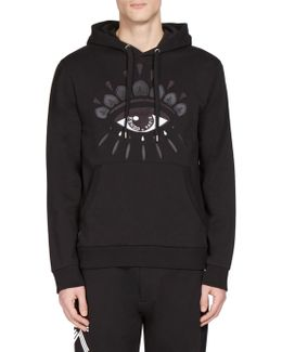 Eye-print Hooded Sweatshirt