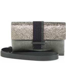 Monili & Metallic Leather Crossobdy Bag