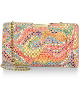 Geometric Rainbow Small Frame Clutch