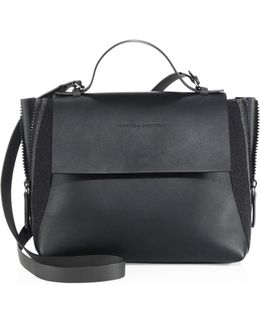 Side-zip Monili & Leather Satchel