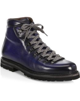 Collection By Magnanni Lace-up Leather Hiking Boots