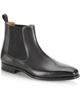 Collection By Magnanni Elastic Side Suede Chelsea Boots