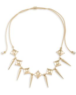 Choker Spike Drop Necklace