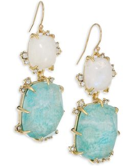 Elements Crystal Double-drop Earrings