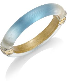 Lucite Ombre Hinged Bangle