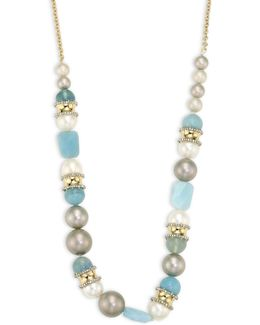 Elements Pearl & Sea Glass Long Necklace/32
