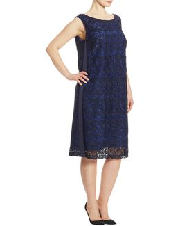 Elegante Desideri Macrame Sheath Dress