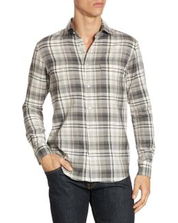 Purple Label Steward Plaid Button-down Shirt