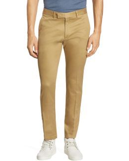 Purple Label Eaton Slim-fit Stretch Cotton Twill Pants