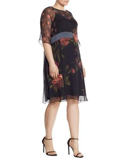 Dicitura Floral-print Silk Georgette Dress