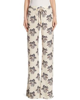 Welsey Floral-print Pants
