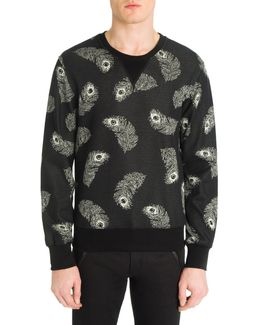 Jacquard Cotton Sweatshirt