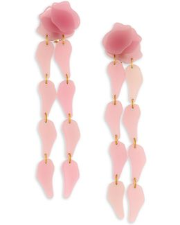 Wisteria Clip-on Drop Earrings