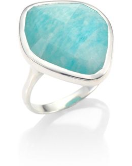 Siren Amazonite & Sterling Silver Ring