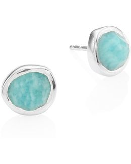 Siren Amazonite Stud Earrings