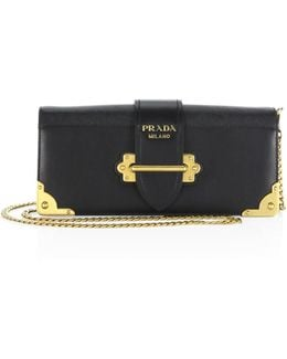 Cahier Leather Chain Clutch