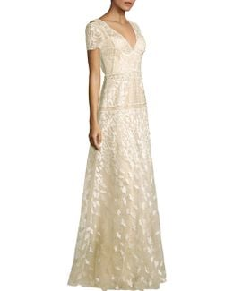 Danah Embroidered Gown