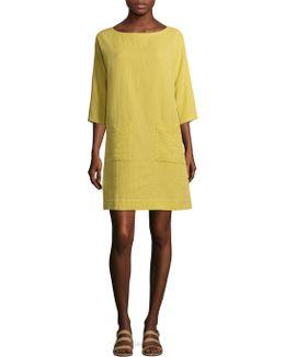 Organic Cotton Boatneck Tunic Dress