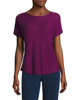 Rib-knit Organic Linen & Organic Cotton Box Top
