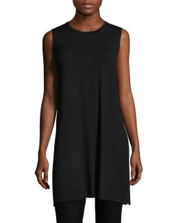 Sleeveless Jersey Tunic