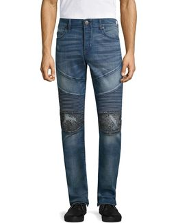 Rocco Classic Studded Skinny Jeans
