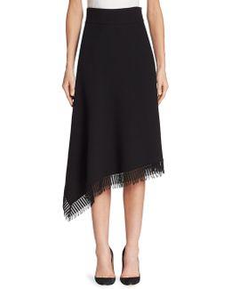 Tarring Wool Fringe Skirt