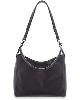 Leather Crossbody Hobo Bag