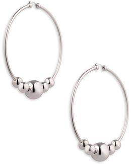 Large Sphere Hoop Earrings/3