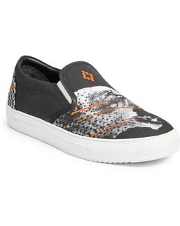 Sham Cheetah Slip-on Sneakers