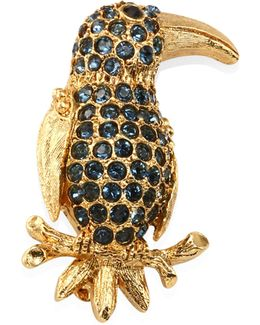 Pave Parrot Brooch