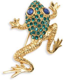 Pave Frog Brooch