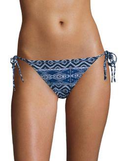 Designer Jeans Side Tie Bikini Bottom