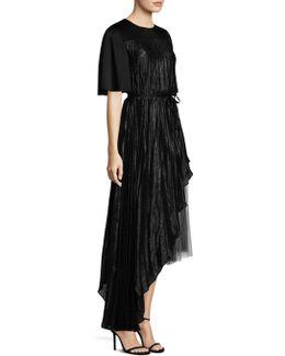 Asymmetric Silk Tulle Dress