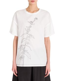 Embroidered Cotton Tee