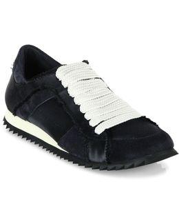 Cristina Satin Trainer Sneakers