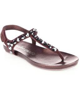 Judith Castoro Lame Thong Sandals