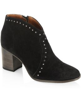 Nora Studded Suede Ankle Boots