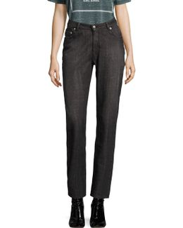 High-rise Cotton Straight Jeans