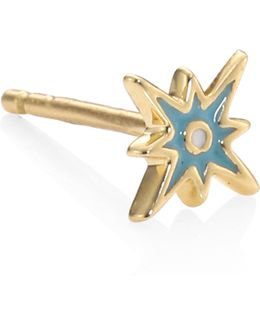 Starburst Mini Enamel Stud Earrings