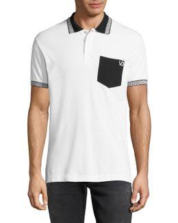 Spread Collar Cotton Polo