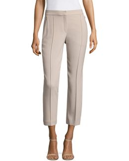 Front Seamed Cropped Ankle Pants