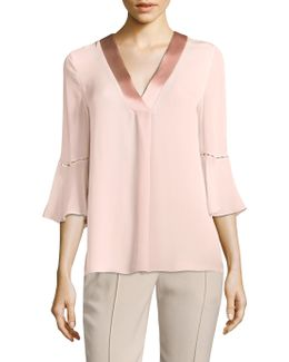 Rose Silk Blouse