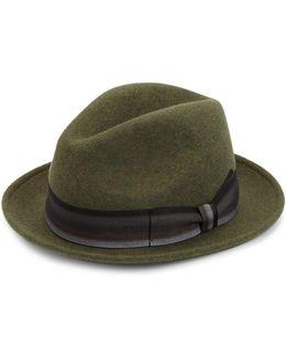 Collection Grosgrain Wool Fedora Hat