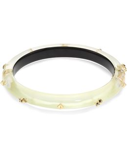 Lucite Studded Hinge Bangle