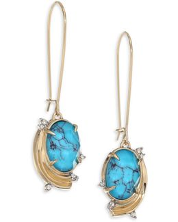 Elements Golden Array Infinity Wire Earrings