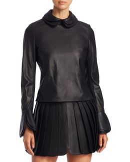 Leather Layer Top