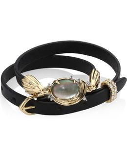 Elements Golden Array Adjustable Wrap Bracelet/choker