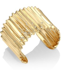 Elements Crystal-studded Pleated Cuff
